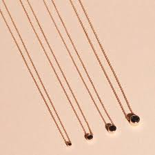 black diamonds necklace images Small black diamond necklace stone and strand jpg
