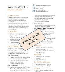 Simple One Page Resume Template Simple One Page Resume Template Ideas Resume Outline Free Resume