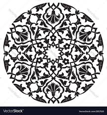 black oriental ottoman design twenty four vector image
