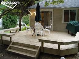 wrap around deck plans deck i like the bench seating all the way around though i would
