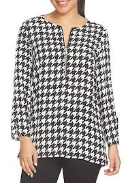 houndstooth blouse chaus zip houndstooth blouse belk