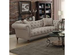 coaster alasdair 505571 sofa with button tufting and rolled arms