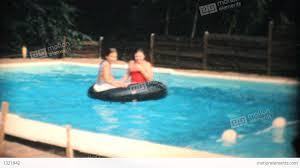 Two Teenage Girls Enjoy The Swimming Pool 1969 Vintage 8mm