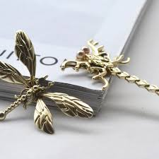 applique sewing on butterfly dragonfly ornaments gold alloy