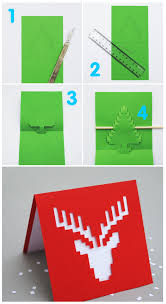25 unique homemade christmas cards that you can make yourself this