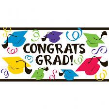 congratulations graduation banner graduation large multi colour hats banner party parrot