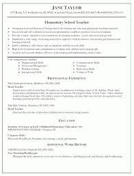 elementary teacher resume resume sample for teachers sample