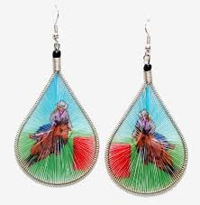 threaded earrings barrel racer threaded earrings rodeo western outlet