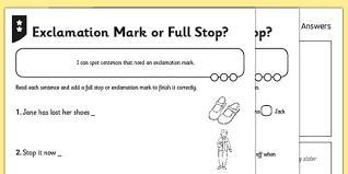 correct the sentence punctuation worksheets phase 2 3