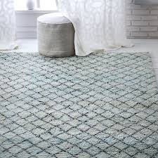 Trellis Rugs Watercolor Trellis Wool Shag Rug Blue Teal West Elm