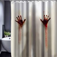Custom Bathroom Shower Curtains Bloody Skull Shower Curtain Polyester Waterproof