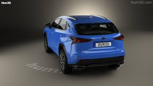 blue lexus nx 360 view of lexus nx f sport 2017 3d model hum3d store