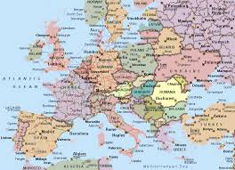 european countries on a map map europe countries major tourist attractions maps