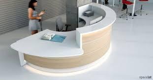 Semi Circular Reception Desk White And Oak Half Circle Reception Desk Reception Pinterest