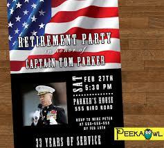 Retirement Invitation Card Personalized Military Retirement Invitation Card Digital