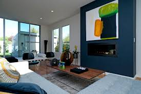 modern blue wallluxury contemporary home plans with grey modern