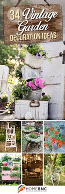 Garden Decorating Ideas Pinterest 34 Best Vintage Garden Decor Ideas And Designs For 2018