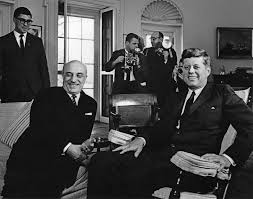 John F Kennedy Rocking Chair Ar7661 L President John F Kennedy Meets With Prime Minister