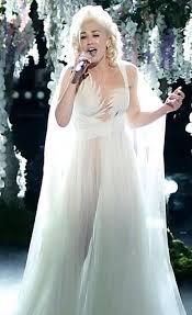 gwen stefani ivory tulle celebrity dress the voice u0027used to love you u0027