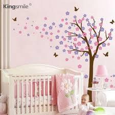 chambres dans les arbres moderne papillon arbres stickers wall sticker fleur diy vinyle