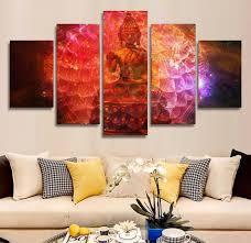 chambre de d馗ompression hd imprimé bouddhisme peinture sur toile chambre décoration d