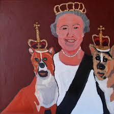 queen with corgis iwantja arts