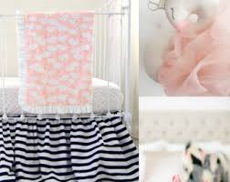 shabby chic blush pink and monochrome floral baby bedding