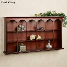 Wall Mounted Curio Cabinet Mackenzie Wooden Wall Curio Display Shelf For The Home