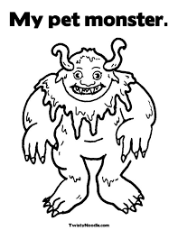 cute monster coloring pages getcoloringpages