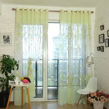 Green Sheer Curtains Fabulous Light Green Floral Print Yarn Sheer Curtains