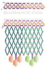 free pattern for beautiful beaded necklace august beads magic