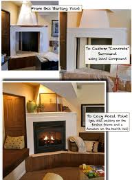 faux concrete fireplace surround and mantel south house designs