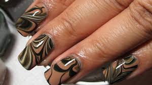 camouflage water marble nail art tutorial youtube in camo nail