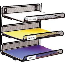 Staples Desk Organizers Staples Black Wire Mesh 3 Tier Desk Shelf Desk Shelves Wire