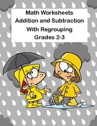 addition and subtraction regrouping worksheets grades 2 3 ccss tpt