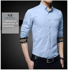 luxury brand mens dress shirt french cuff slim fit business shirts