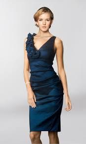 navy blue knee length dress cocktail dresses 2016