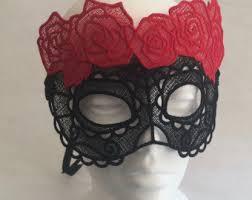 Black Mask Halloween Costume Black Lace Mask Etsy