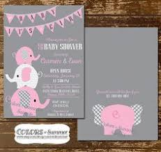 it s a girl baby shower ideas elephant baby shower bring a book instead of a card invitation