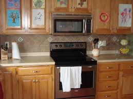 kitchen cut glass tile backsplash granite countertops with