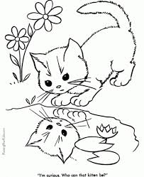 cute cat free coloring pages on masivy world regarding the elegant