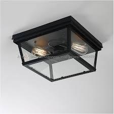 industrial flush mount light vintage industrial glass box ceiling light bar restaurant coffee