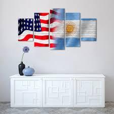usa and argentina flag multi panel canvas wall art u2013 elephantstock