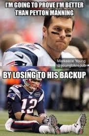 Patriots Broncos Meme - peyton manning denver broncos to tom brady new england patriots
