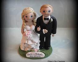 wedding cake topper custom cake topper bride and groom