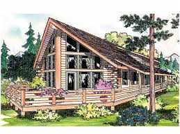 Small A Frame Cabin Plans Yakutat Aframe Home Plan Cool A Frame House Plans Home Design Ideas