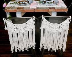 table chair covers macrame chair cover etsy