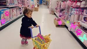 cute little doing shopping toys