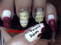 4 the vampire diaries inspired nail art serie tv nails youtube