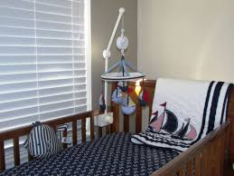 baby nursery dazzling designs for nautical baby room ideas baby splendid decorating ideas using grey wall and rectangular brown wooden cribs in blue